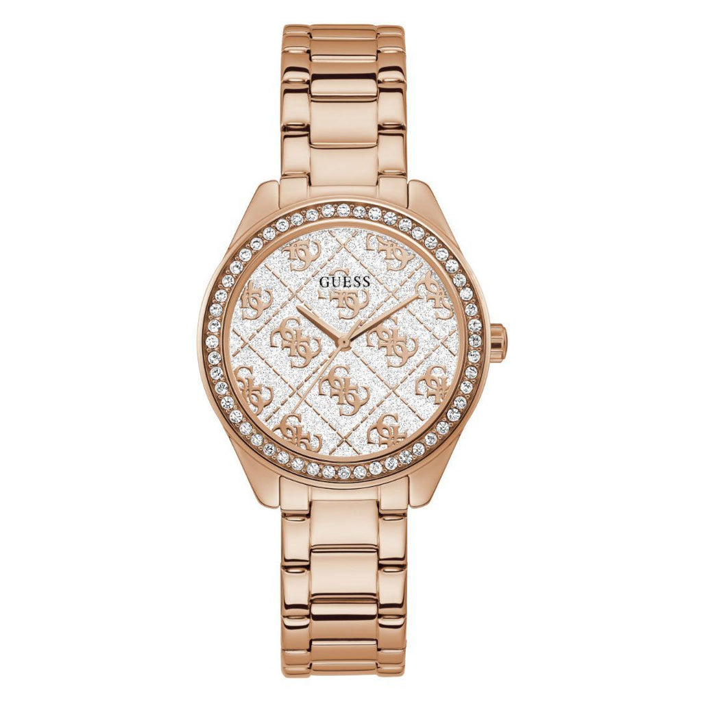 Guess Sugar Ladies Rose Gold Stone Set Watch GW0001LE Watches Guess