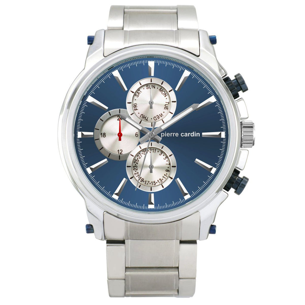 Pierre Cardin RYAN Multi Function Blue Dial Watch 6019