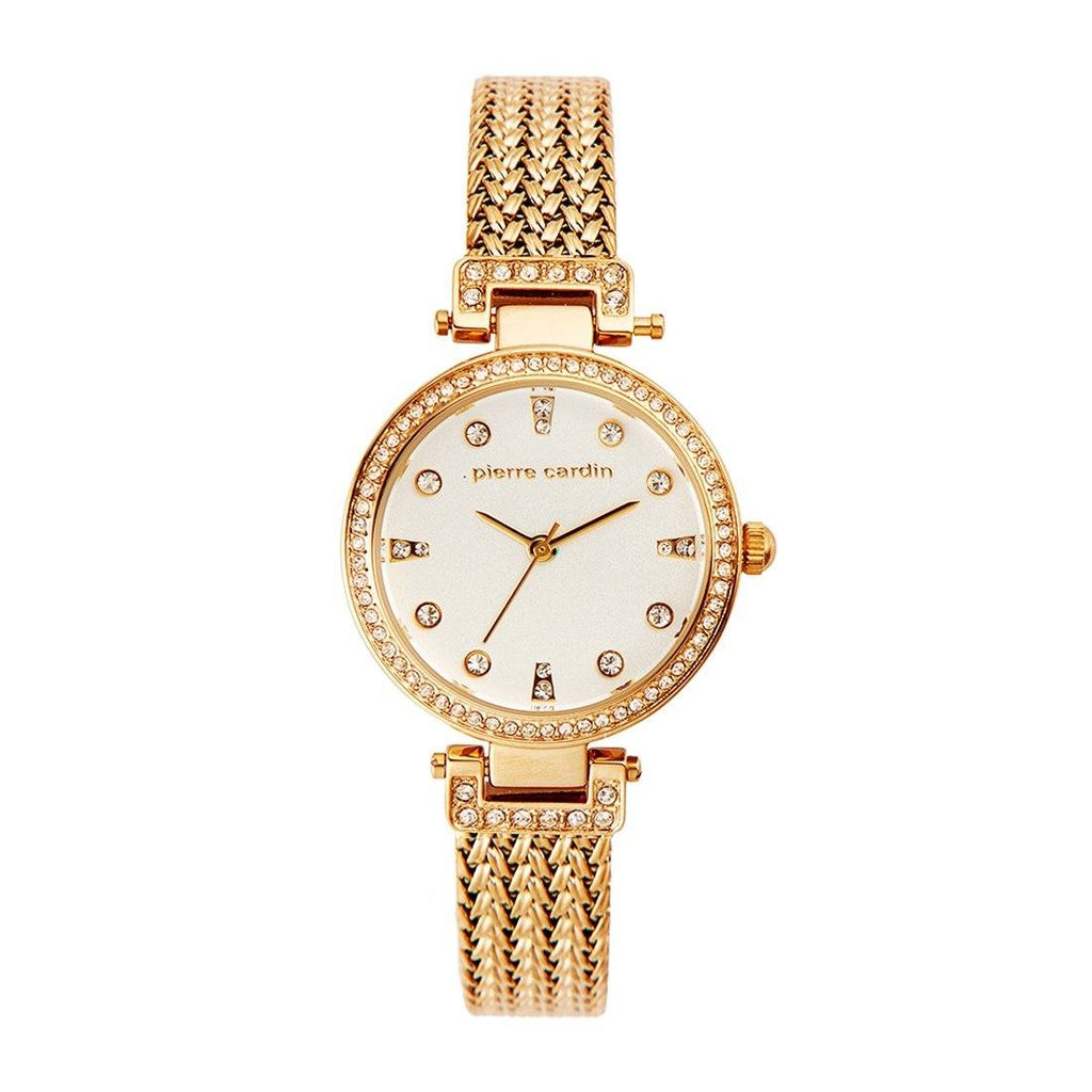 Pierre Cardin Gold Mesh White Face Watch 5783 Watches Pierre Cardin