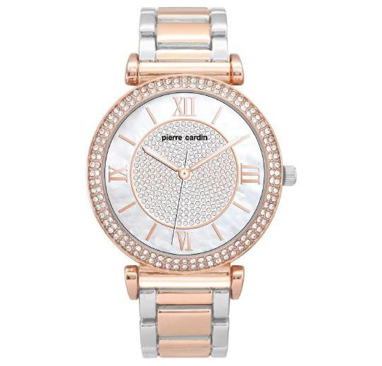 Pierre Cardin Chloe Silver & Rose Swarovski Crystal Watch 5991