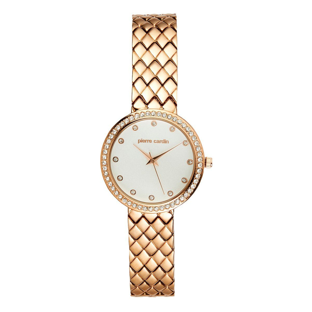 Pierre Cardin Women's Rose Gold Tone Stone Set Watch 5892 Watches Pierre Cardin