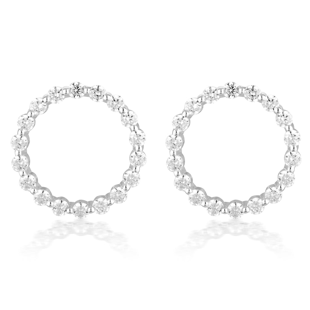 LARGE CIRCLE OF LIFE EARRING - SILVER Bevilles Jewellers