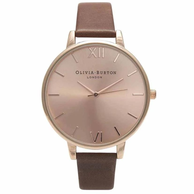 Olivia Burton Big Dial Brown Leather Watch OB13BD10