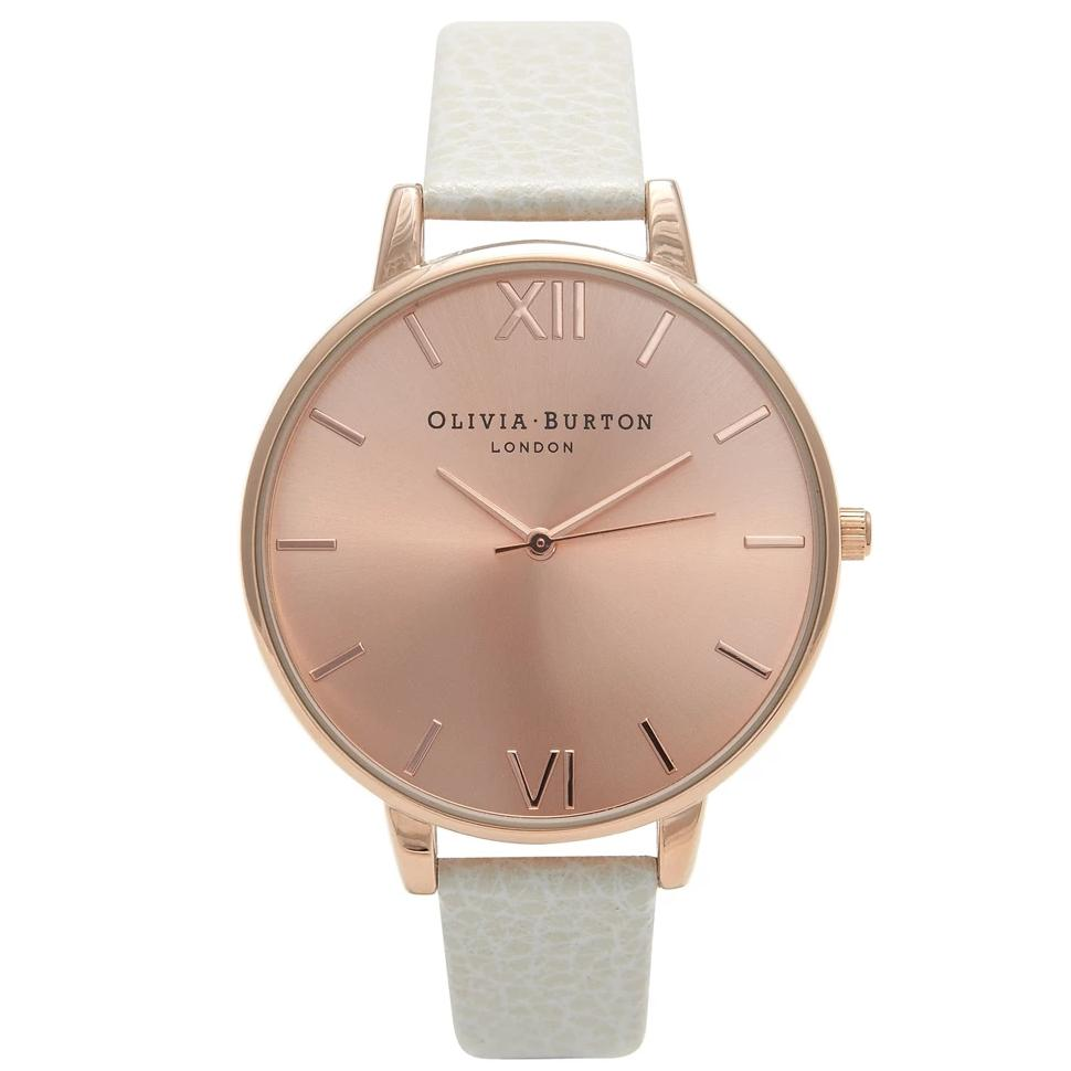 Olivia Burton Big Dial Mink and Rose Gold Watch OB13BD11
