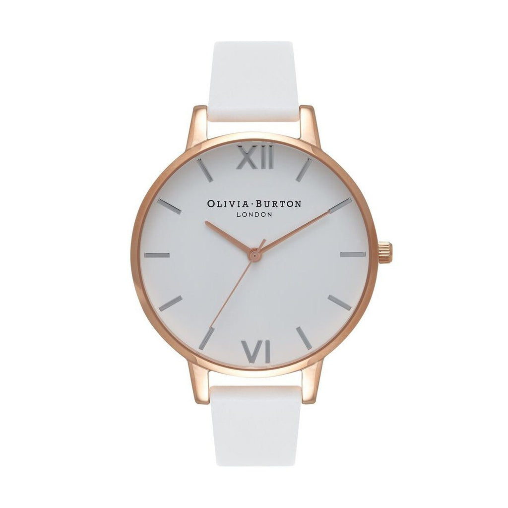 Olivia Burton White, Rose Gold and Silver Watch OB16BDW11 Watches Olivia Burton
