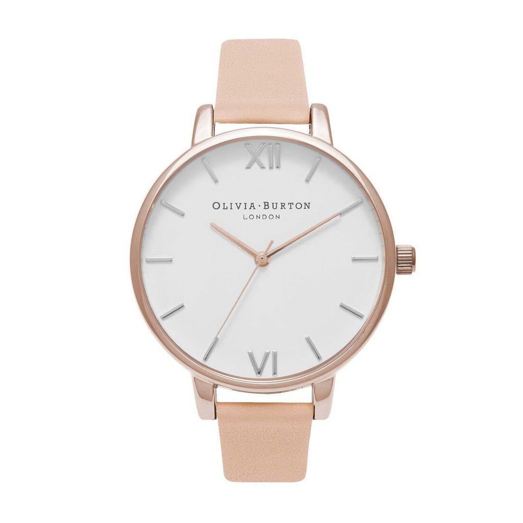 Olivia Burton Big Dial Nude Peach and Rose Gold Watch OB16BDW21 Watches Olivia Burton
