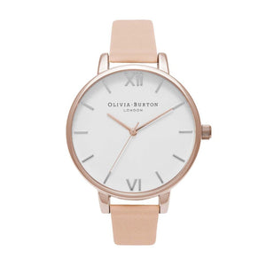 Olivia Burton Big Dial Nude Peach and Rose Gold Watch OB16BDW21