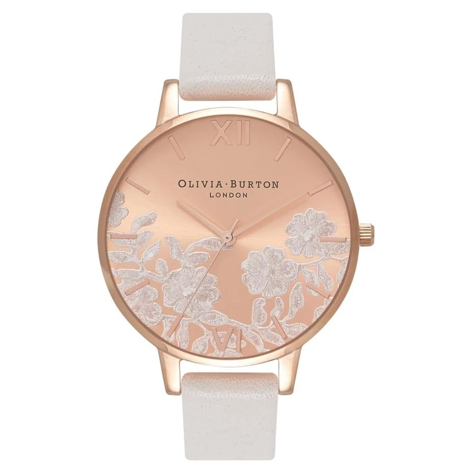 Olivia Burton Lace Detail Blush and Rose Gold Watch OB16MV53