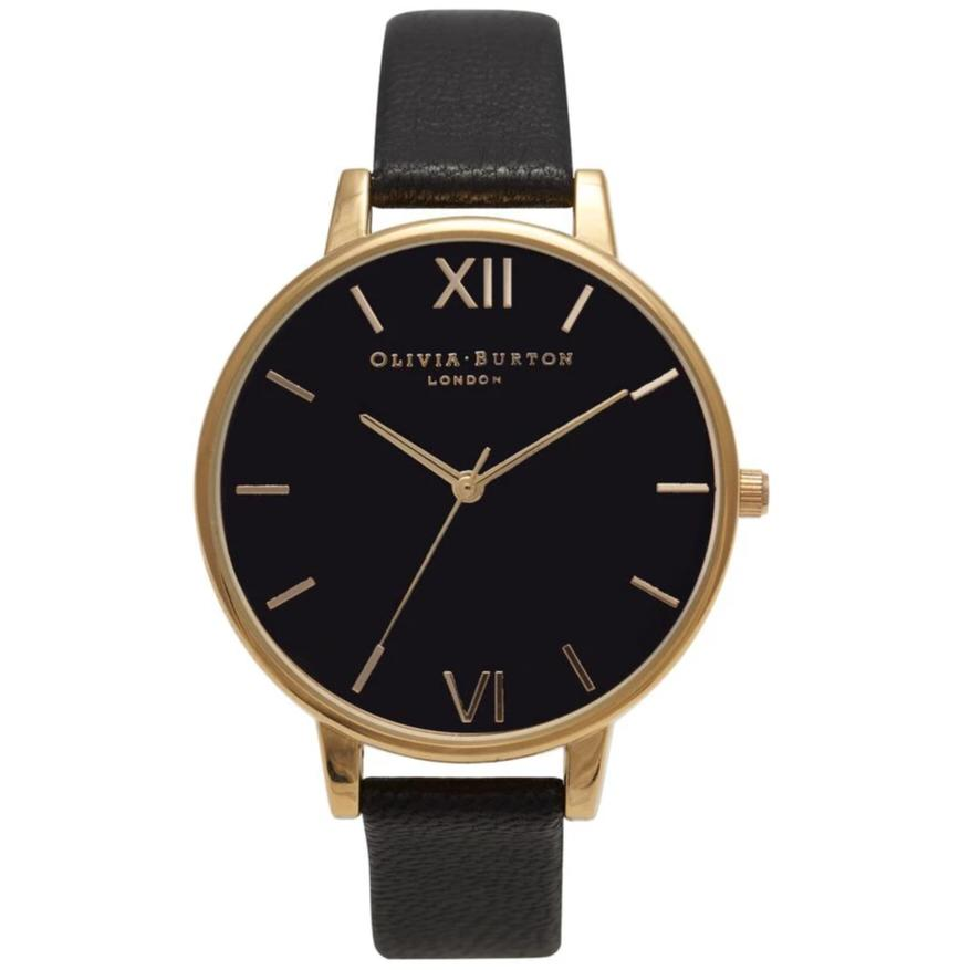 Olivia Burton Big Dial Black and Gold Watch OB15BD55