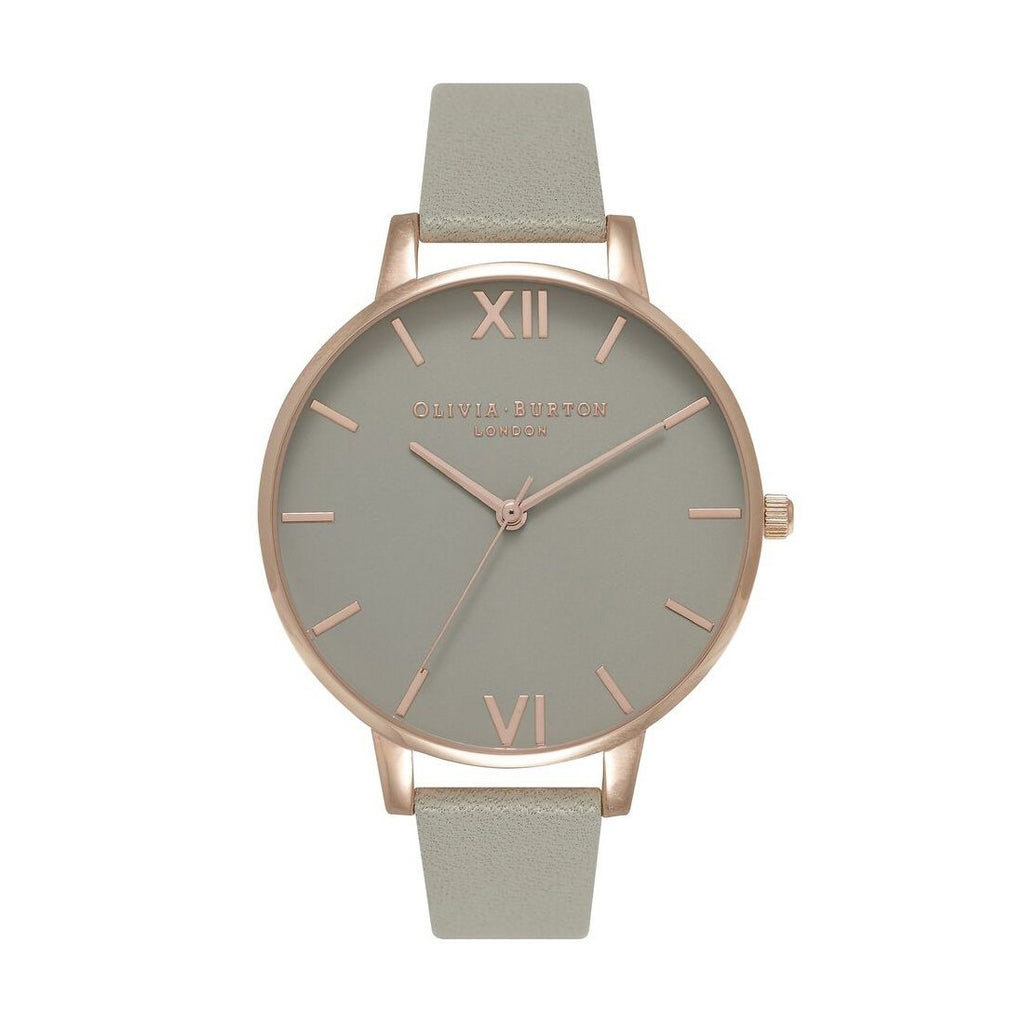 Olivia Burton Big Dial Grey and Rose Gold Watch OB15BD61