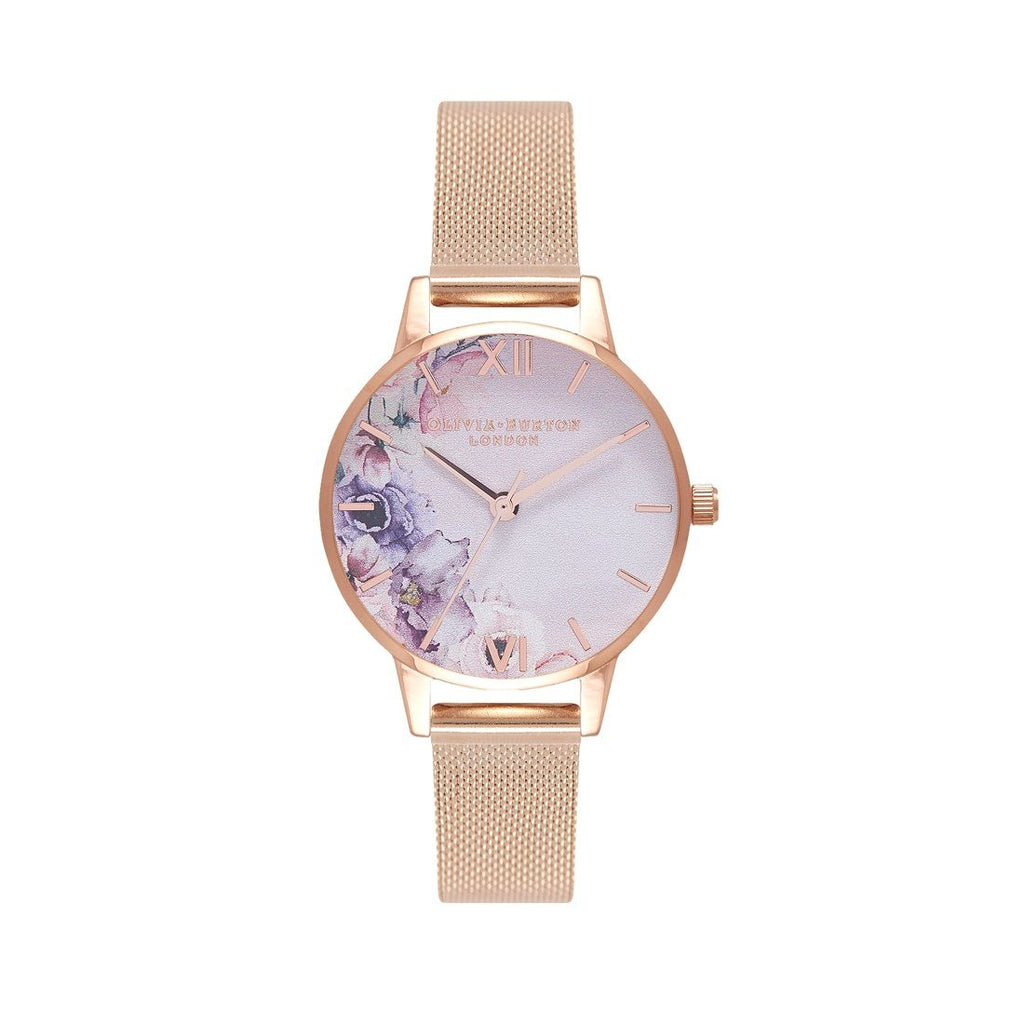Olivia Burton Watercolour Floral Rose Gold Watch OB16PP39