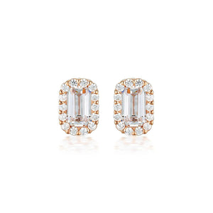 Georgini White Cubic Zirconia Rose Gold 20mm Earrings