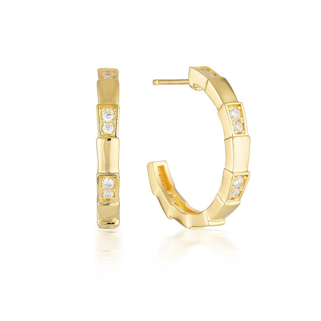 GEORGINI EMILIO VEGA GOLD HOOP EARRINGS Bevilles Jewellers