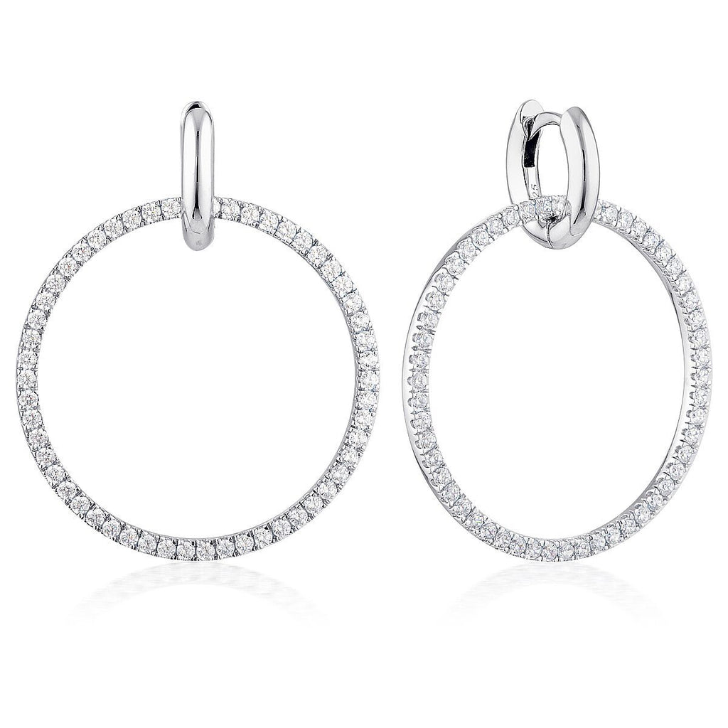 Georgini Julietta Round Drop Earrings Bevilles Jewellers