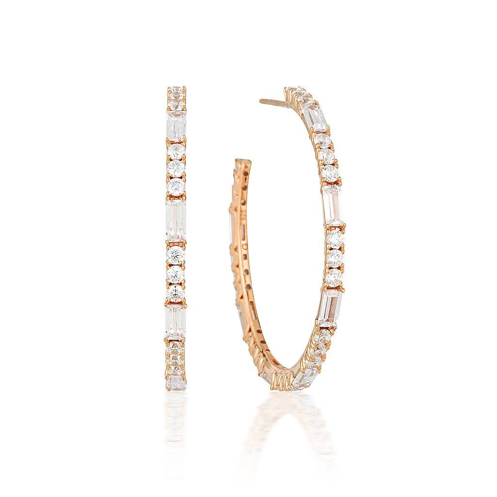 IRINA LARGE ROSE GOLD HOOP Bevilles Jewellers