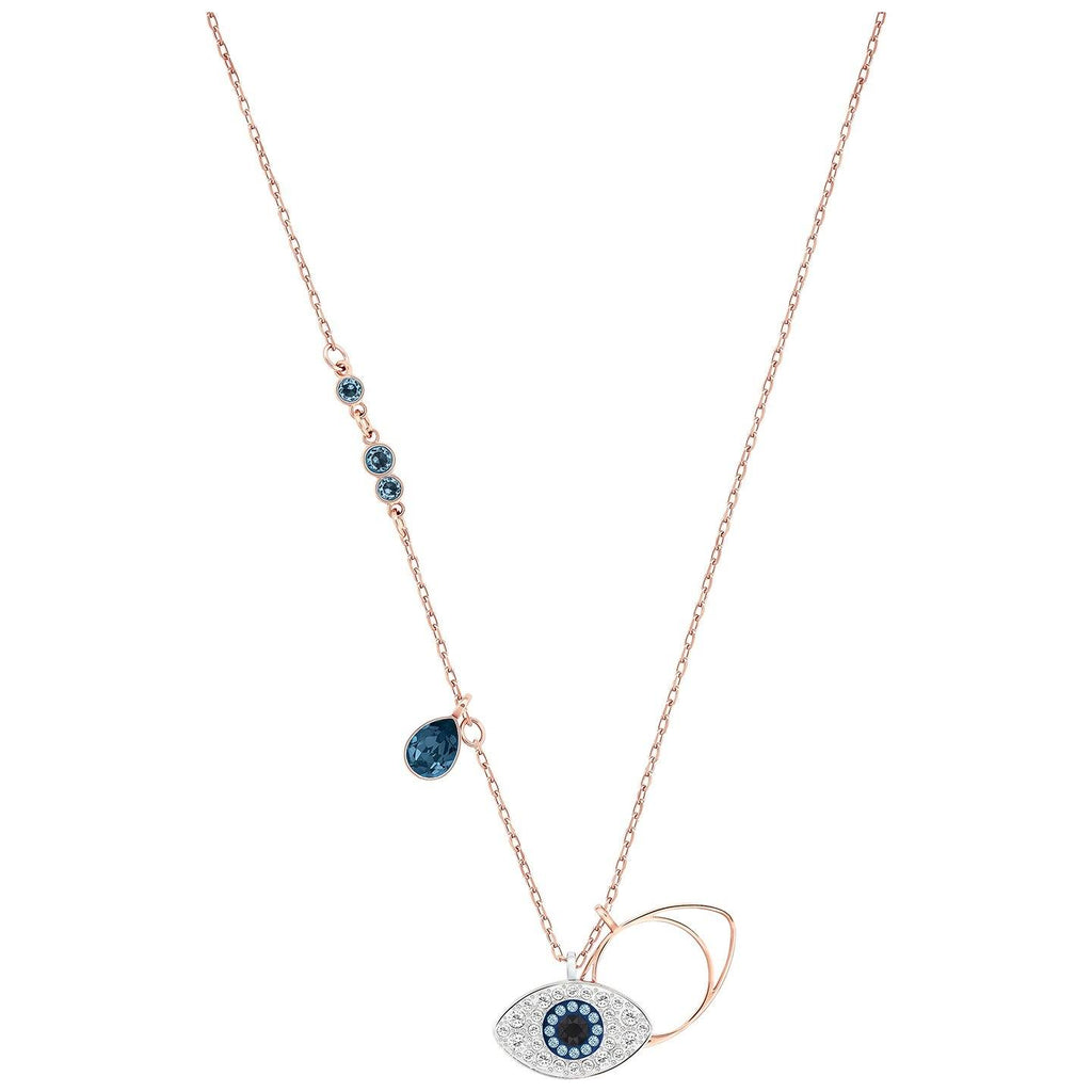Swarovski Duo Evil Eye Crystal Necklace Necklaces Swarovski
