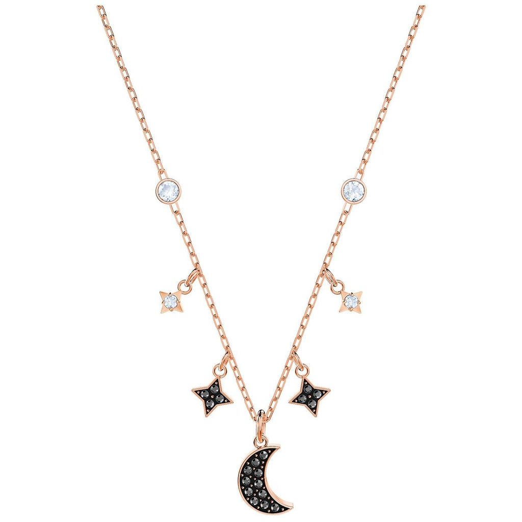 Swarovski Duo Moon Jet Necklace Necklaces Swarovski