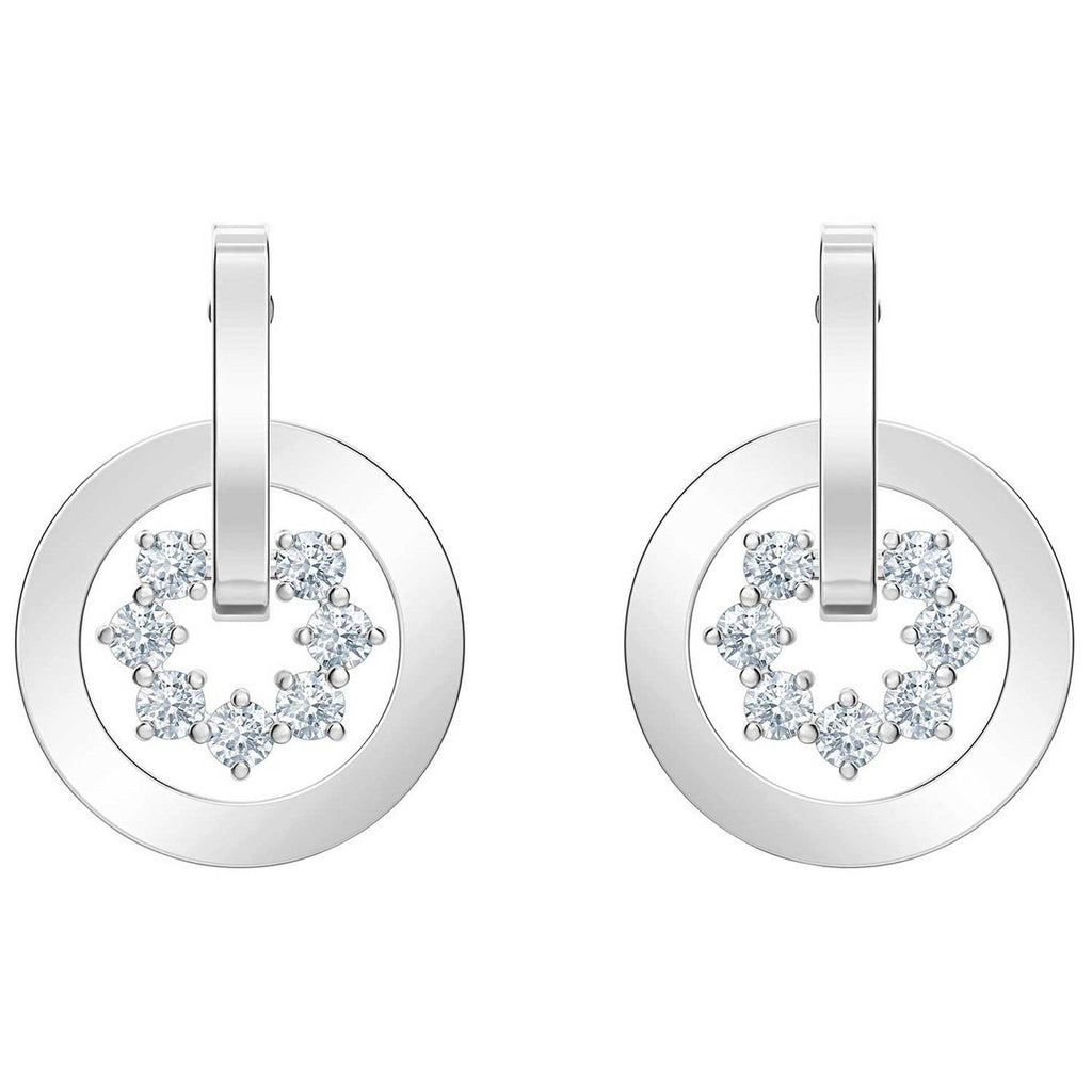Swarovski Further Drop Circle Earrings Swarovski