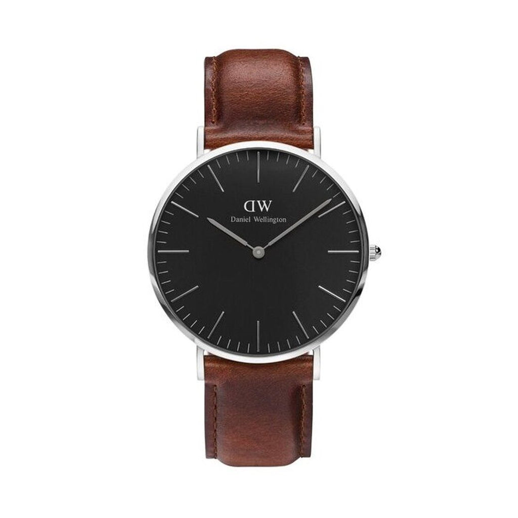 Daniel Wellington St Mawes Black & Brown Leather Watch DW00100130