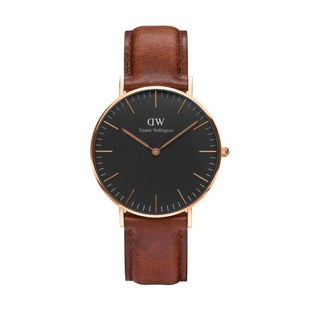 Daniel Wellington St Mawes 36mm Rose Gold Brown leather Band Model DW00100136