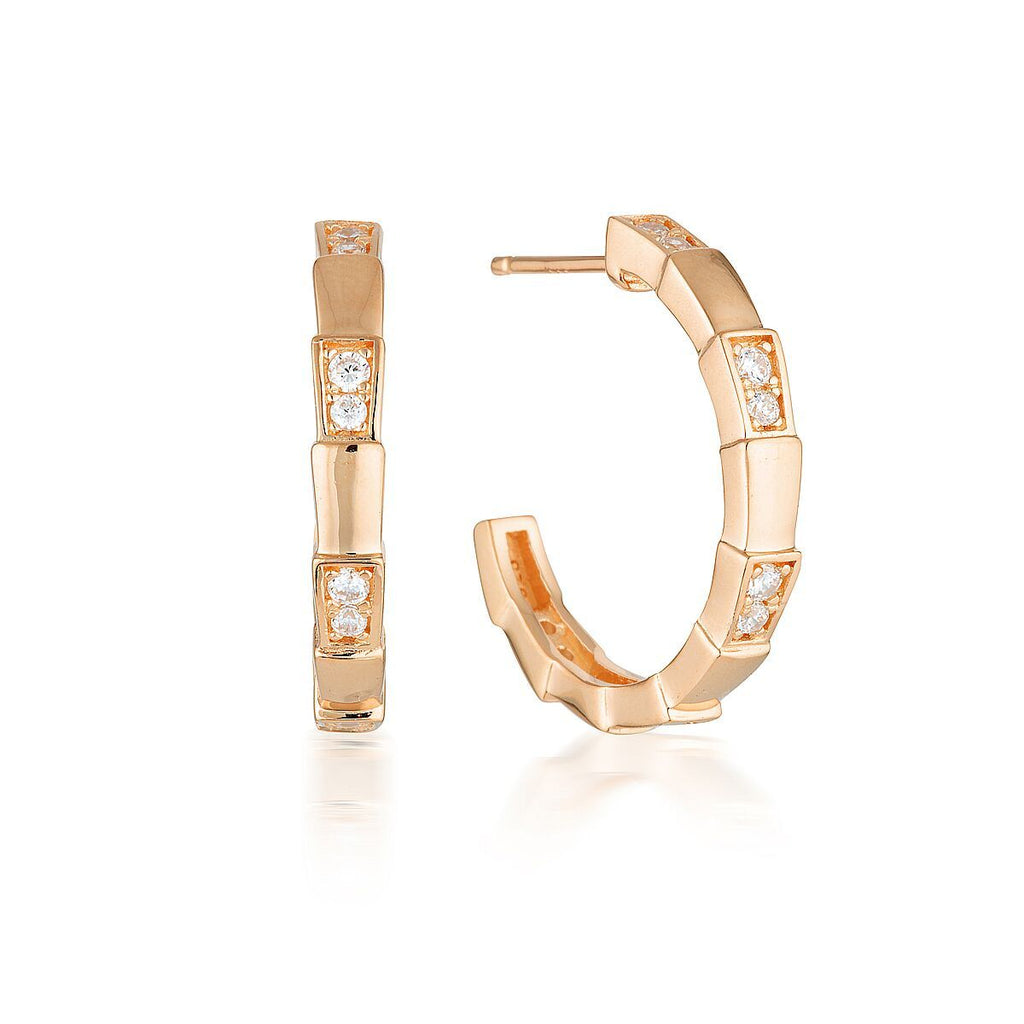 GEORGINI EMILIO VEGA ROSE GOLD HOOP EARRINGS Bevilles Jewellers