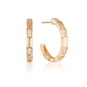 Georgini Emilio Vega Rose Gold Hoop Earrings