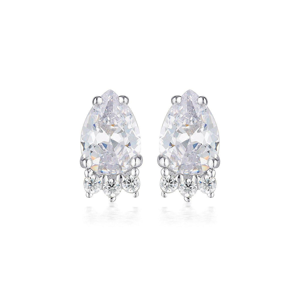 Georgini Silver Willow Stud Earring Bevilles Jewellers