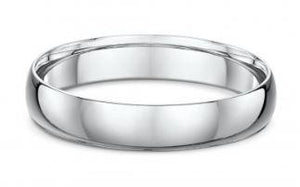 Dora 4mm Dome Wedding Band in Sterling Silver Size Q