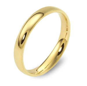 Dora 3mm Dome Wedding Band in 9ct Yellow Gold Size P
