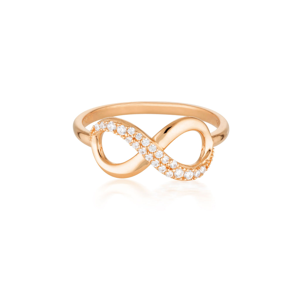 Forever Infinity Ring - Rose Gold Bevilles Jewellers