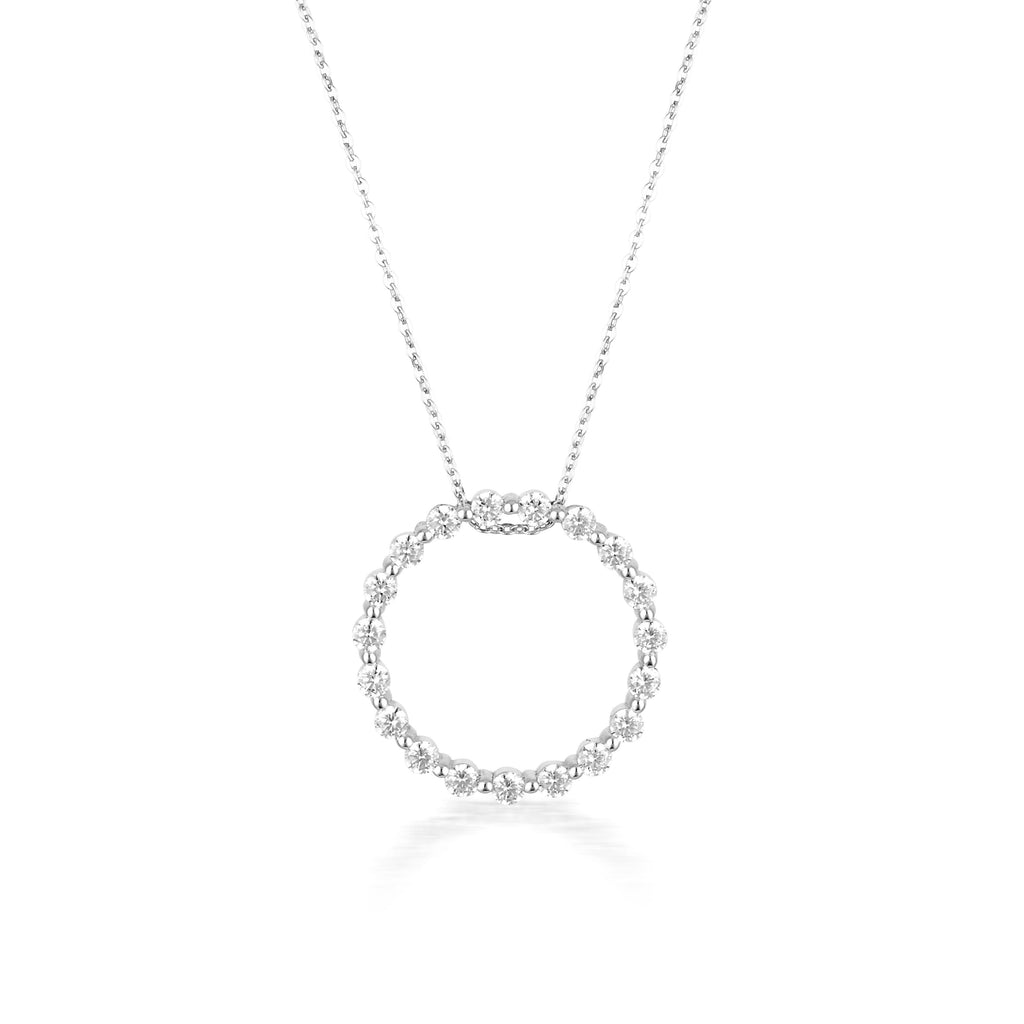GEORGINI CIRCLE OF LIFE PENDANT - SILVER Bevilles Jewellers