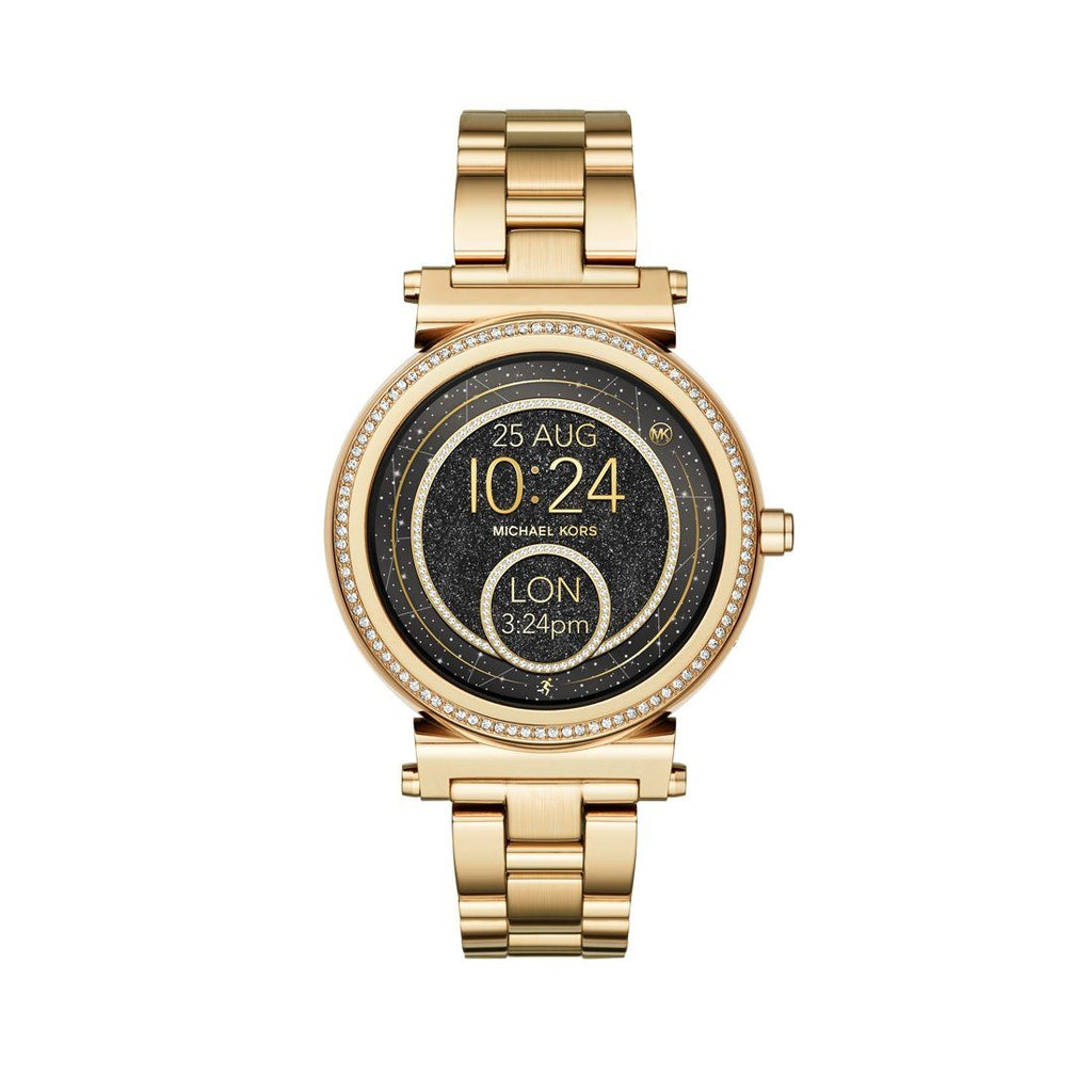 Michael Kors Gold Smart Watch with Crystals MKT5021