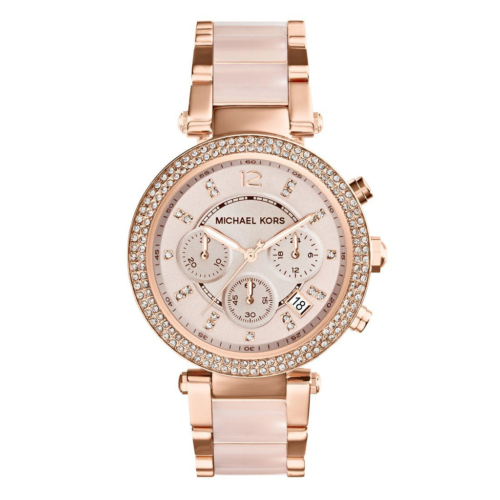 Michael Kors Parker Rose Gold Stone Set Watch MK5896 Watches Michael Kors