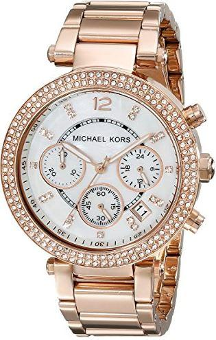 Michael Kors Parker Rose Stone Set Watch MK5491 Watches Michael Kors