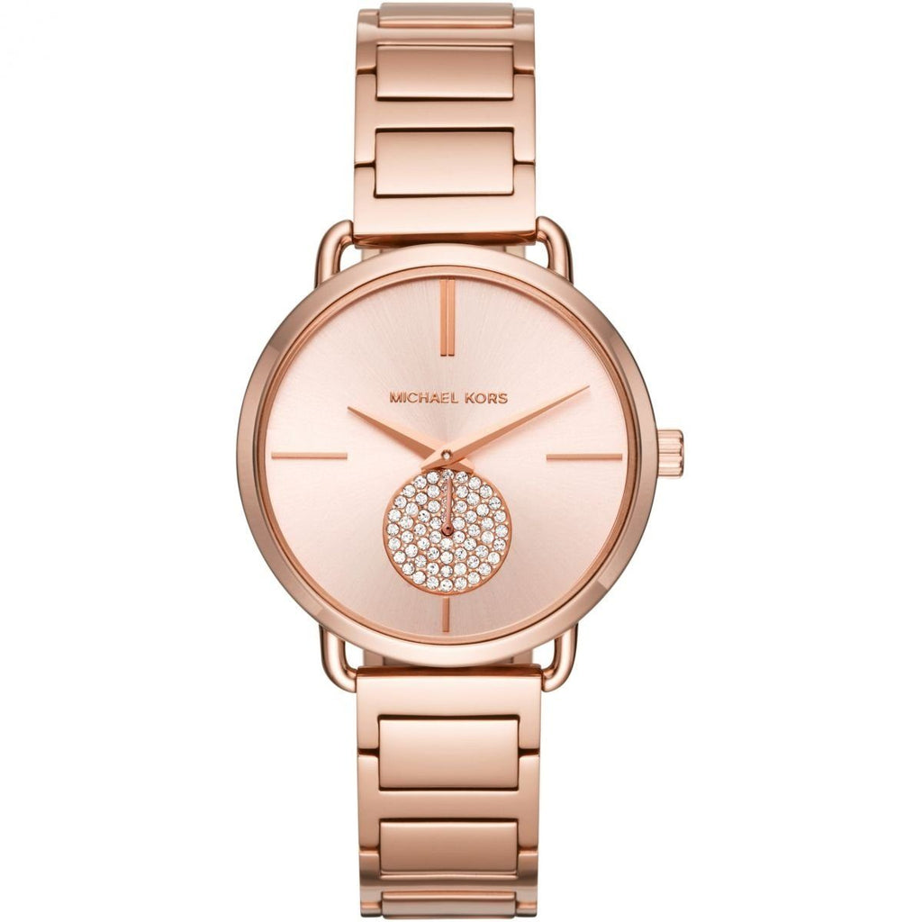 Michael Kors Ladies Portia Rose Gold Model MK3640 Watches Michael Kors