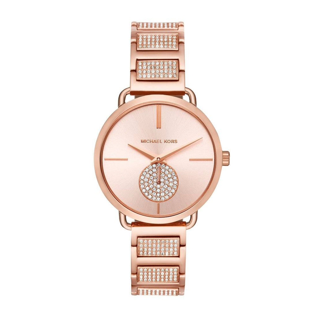 Michael Kors Portia Rose Gold-Tone Chronograph Watch MK3853 Watches Michael Kors