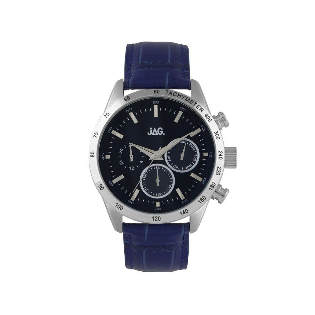 Jag Mens Blue Face Chronograph Watch J2165