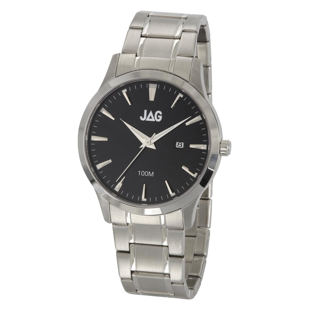 Jag Men's Silver Bracelet Watch Model- J1507A Watches Jag