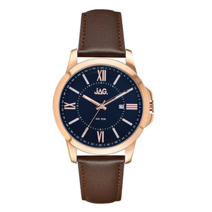 JAG Men's Xavier Leather Band Watch J2155