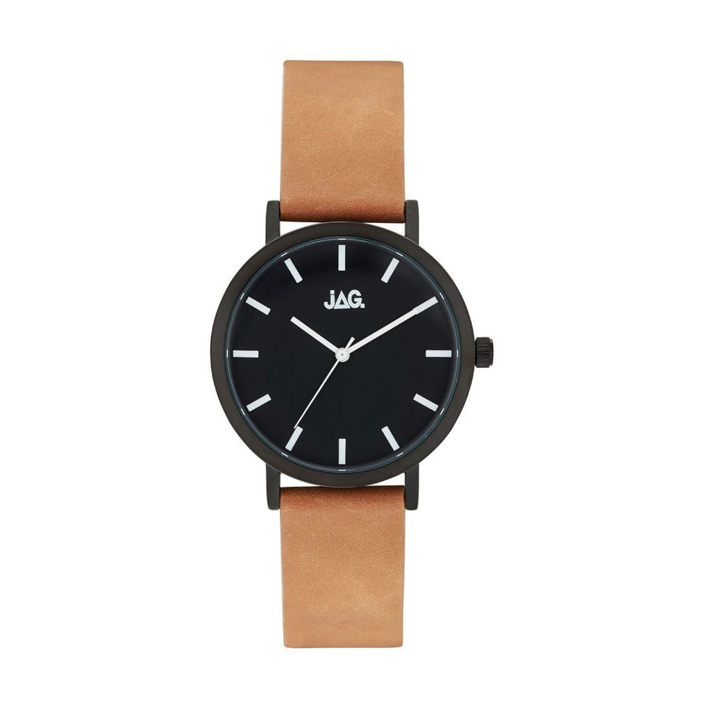 Jag Mens Brown Leather Watch J2252