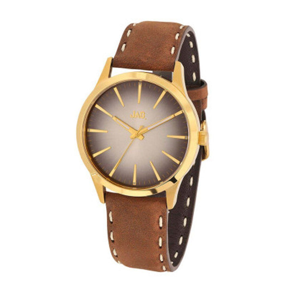 Jag Mens Brown Leather Watch Model J1810 Watches Jag