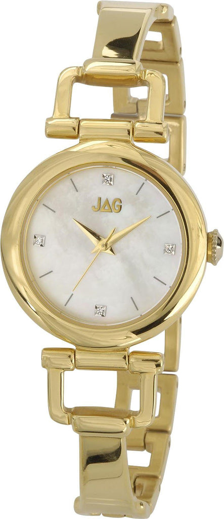 Jag Ladies Stone Set Gold Watch Model- J1486A Watches Jag