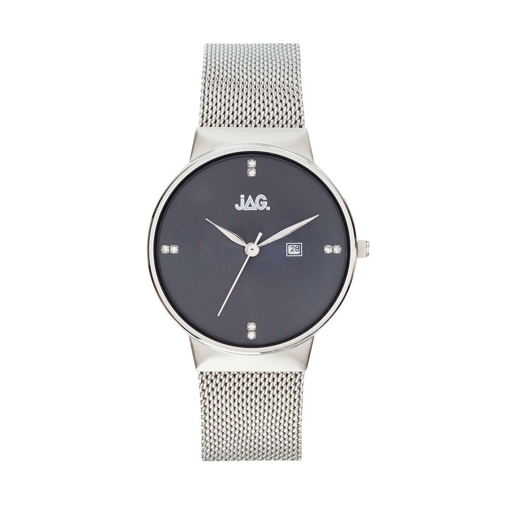 Jag Ladies Silver Mesh Watch J2240A