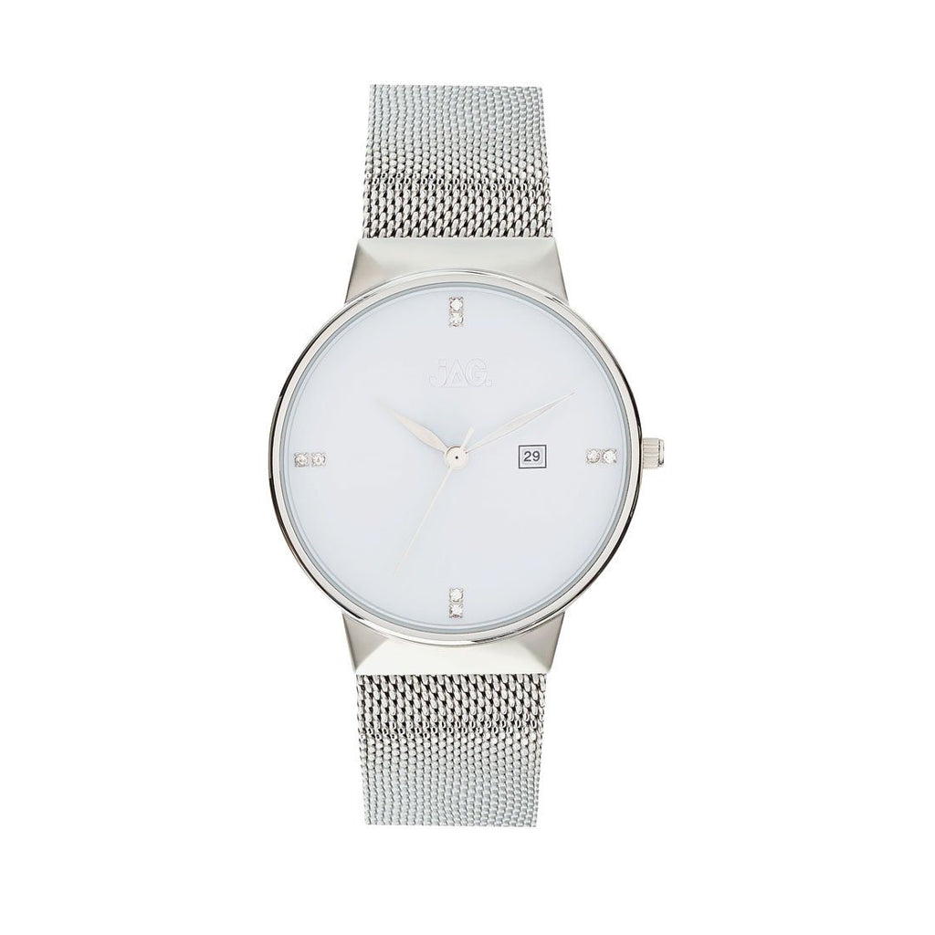 Jag Ladies Silver Mesh Watch J2239A