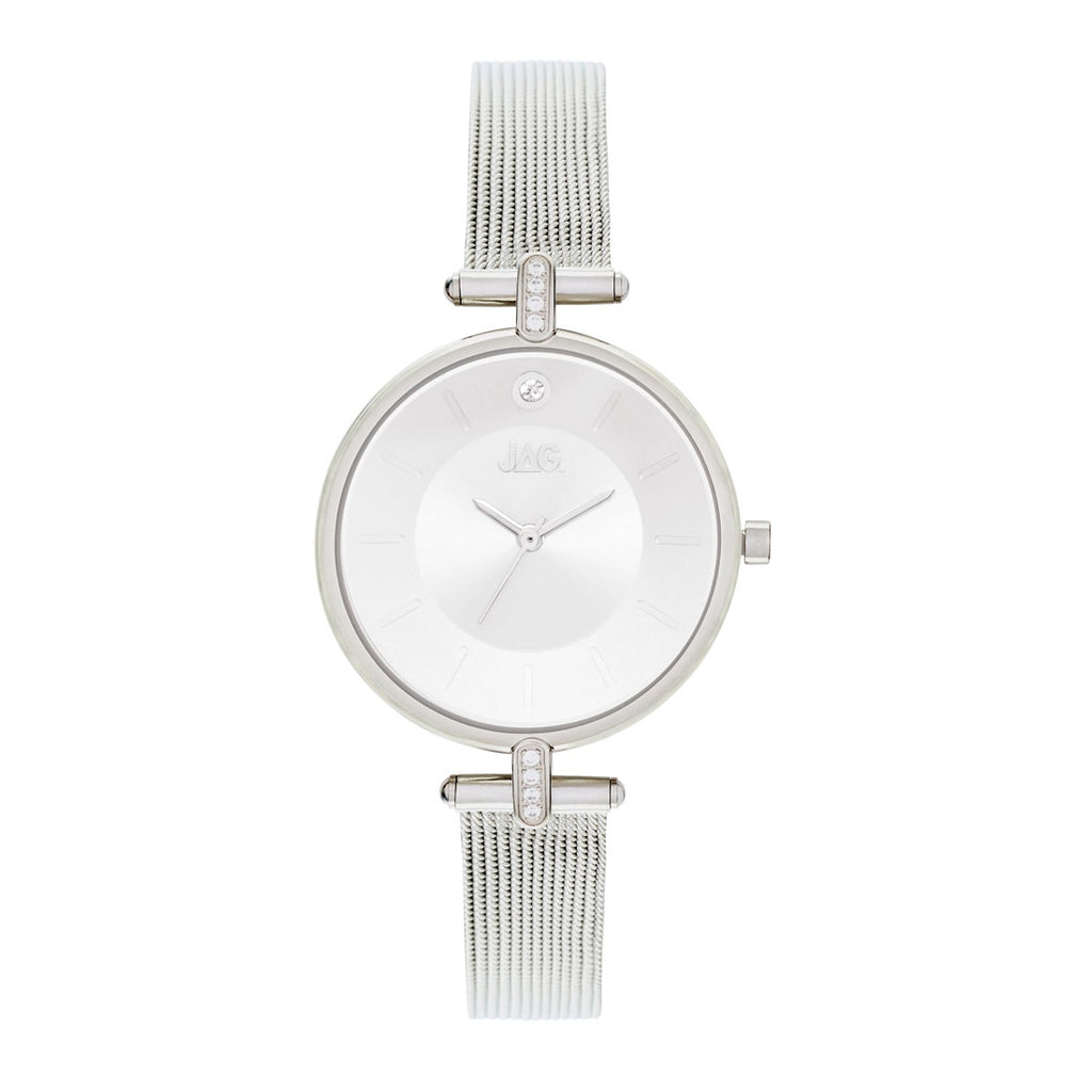 Jag Ladies Silver Mesh Watch Model J2230A