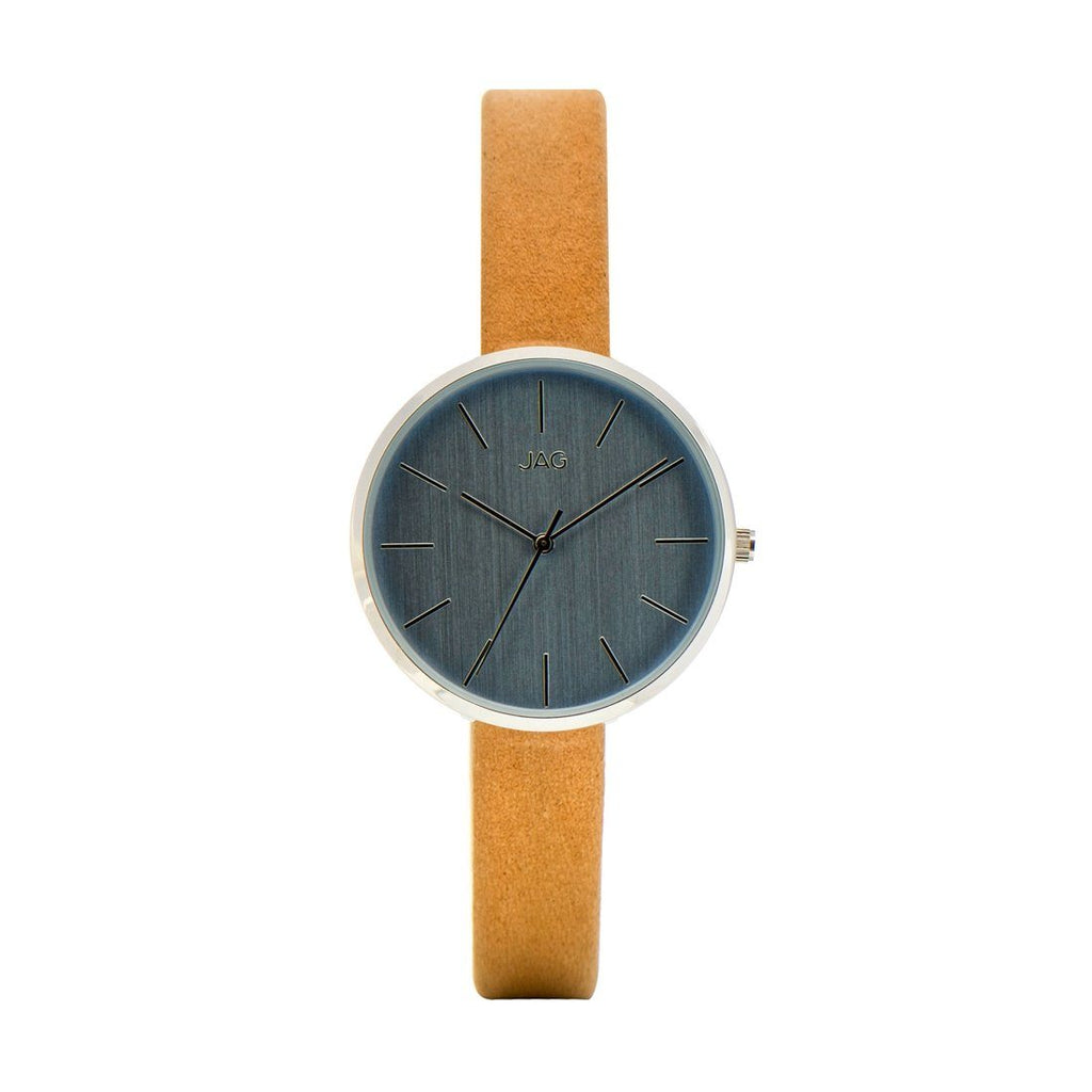 JAG Julia Blue Dial Beige Strap Watch J1973