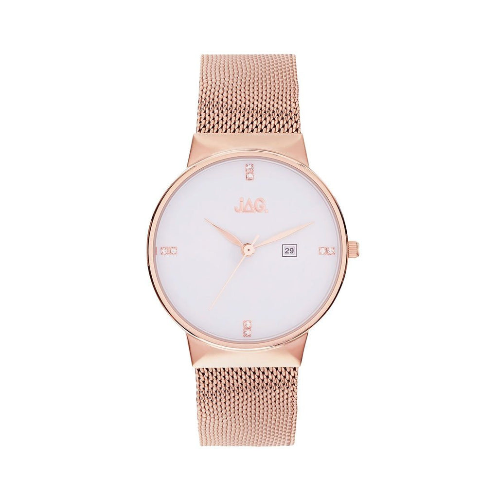 Jag Ladies Rose Mesh Watch J2242A