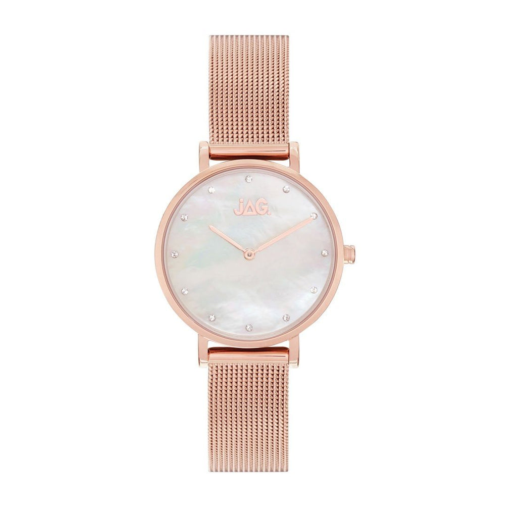 Jag Ladies Rose Gold Tone Watch J2233A