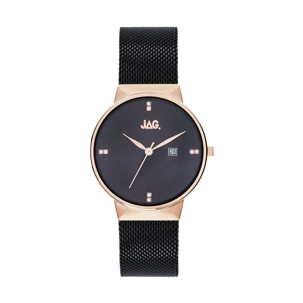 Jag Ladies Black Mesh Watch J2241A