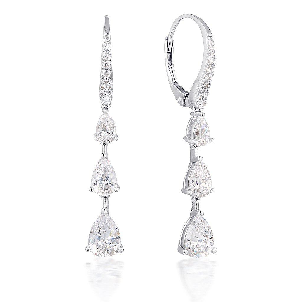 GEORGINI CHANTELLE TRIPLE TEARDROP EARRING - 1 Bevilles Jewellers